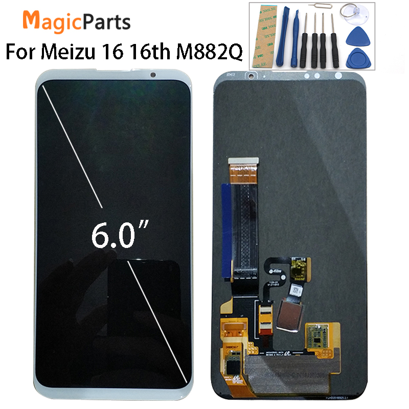 For Meizu 16th LCD display original Super AMOLED LCD Screen Display Touch Panel Digitizer For Meizu
