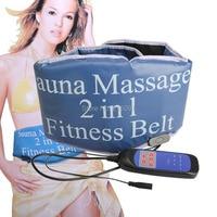 2 In 1 Fitness Slimming Body Sculptor Sauna Heating Belt Massager GYM AB Abdominal Muscle Trainer Exerciser Belts Fat Burning