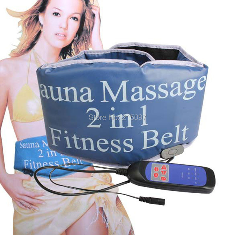 2 in 1 fitness slimming body sculptor sauna heating vibrating belt massager GYM ab abdominal muscle exerciser belts fat burner