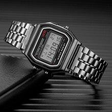 Relogio Feminino Brand Watch Women Fashion Luxury Male Gold Watch Reloj Mujer Waterproof Stainless Steel Ladies Digital Watches цена и фото