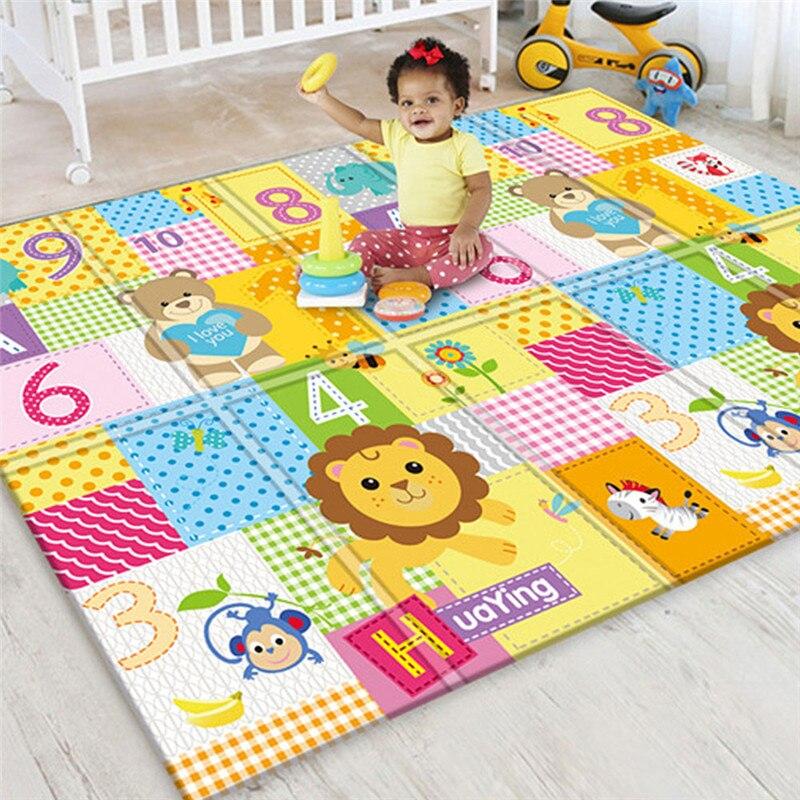 Tapis de jeu rampant antidérapant pliable pour enfants bébé écologique maison tapis Double face résistant à l'humidité sans odeur - 3