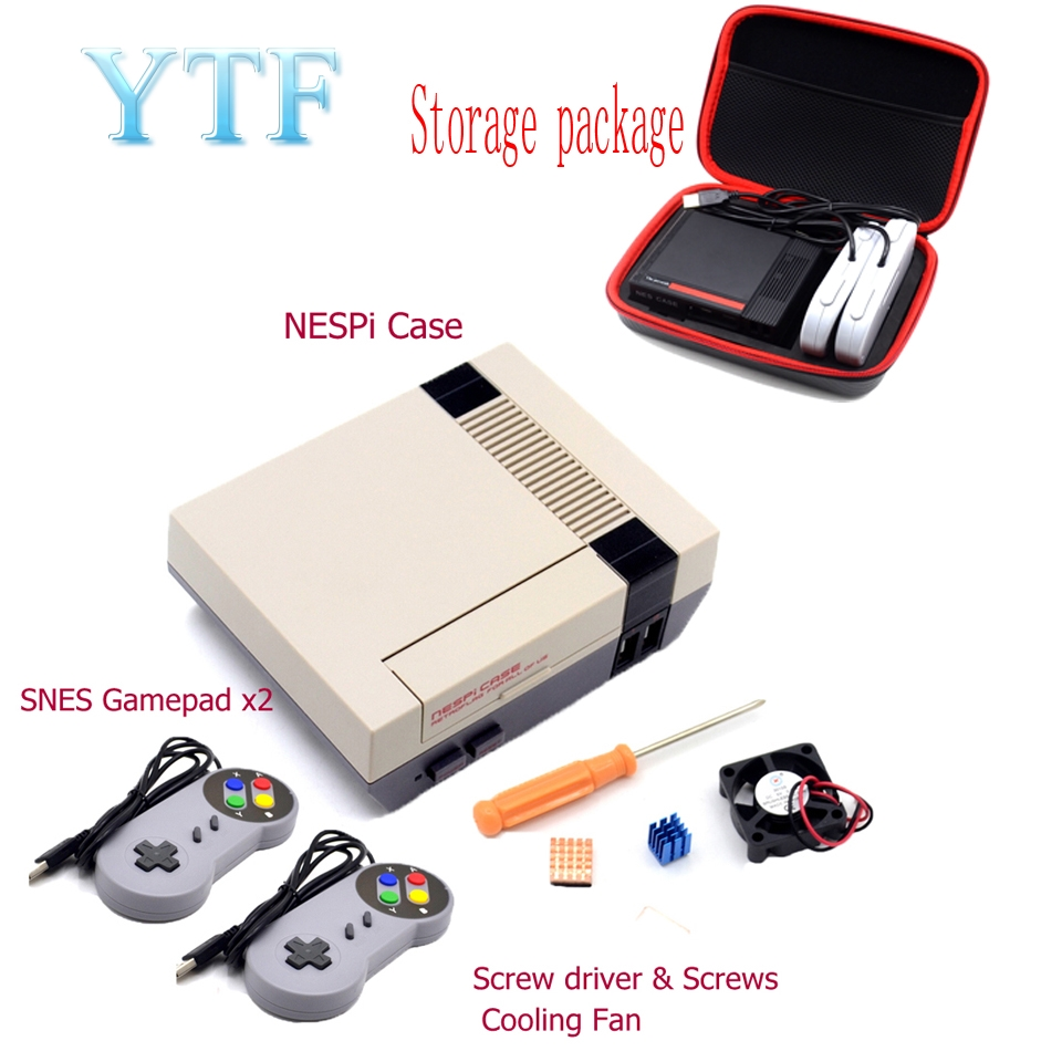 1Set Mini NESPI CASE  Package For Raspberry Pi 3/4  2  B+ NES Classic Mini For RetroPie