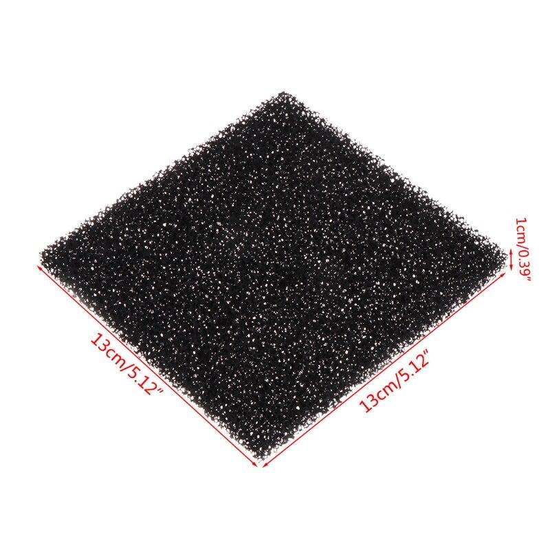 Universal Activated Carbon Foam Sponge Air Filter Impregnated Sheet Pad 5Pcs