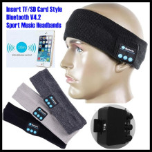 Вставлять TF слот беспроводной Bluetooth V4.2 гарнитура стерео наушники ручная Музыка волшебный Спорт Смарт повязки на голову Mp3 динамик микрофон