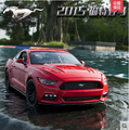 Ford Mustang 5.0 maisto 1:18 Original coaster simulation alloy car model Furious 7 Need for Speed Police Edition  Limited