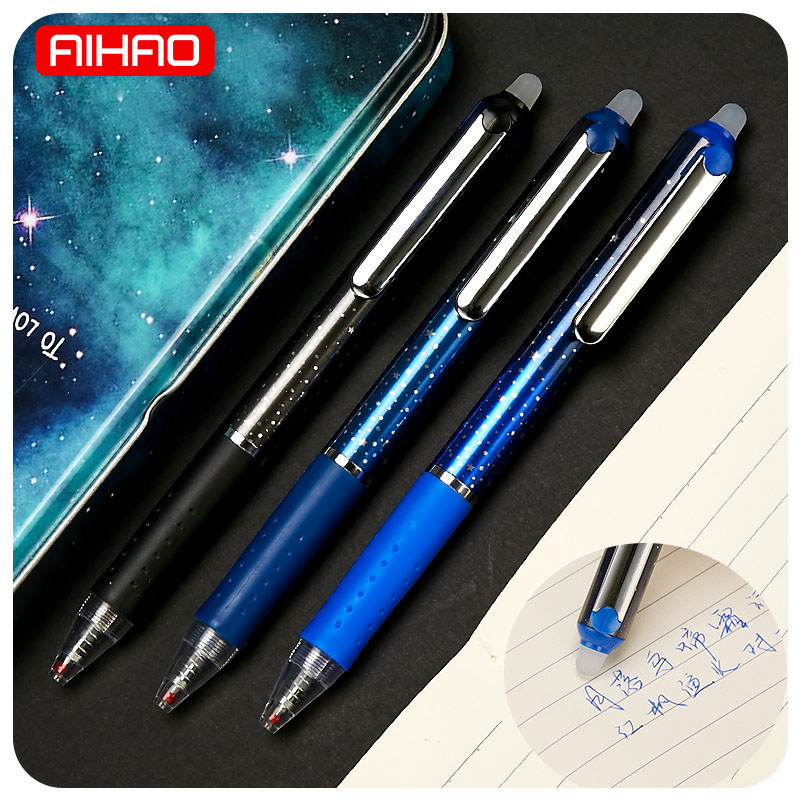 AIHAO Free Shipping Creative Outer Space Erasable Gel Pen Cute Kawaii Star Writing Pens For Kids Office School Supplies 1540 kawaii cartoon cat erasable pen cute dog gel pens for kids writing gift office school supplies free shipping 3931