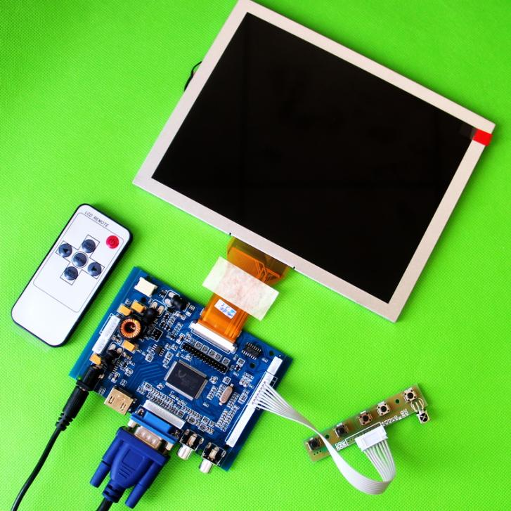 8 AT080TN52 800x600 Display DIY LCD Monitor For Raspberry Pi ARM Audio Board HDMI VGA AV Audio Input m nt68676 2a universal hdmi vga dvi audio lcd controller board for 17 1inch 1680x1050 lp171we2 tl03 monitor for raspberry pi
