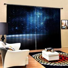 Modern Home Decoration Living Room dark blue curtains for bedroom Blackout curtain