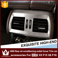 ABS Rear air-conditioning outlet Cover Trim car accessories For BMW X5 F15 X6 F16 2014 2015 2016