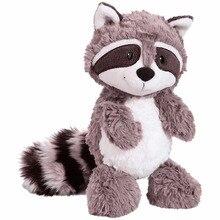 цены на 25cm Gray Raccoon Bear Plush Toy Lovely Cute Soft Stuffed Animals Doll Pillow For Kids Children Girls Baby Birthday Gift  в интернет-магазинах