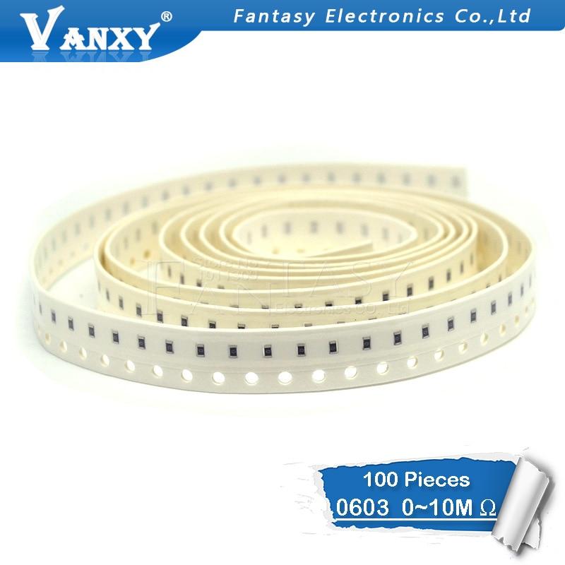 5000pcs 0603 SMD resistor 0 ohm ~ 10M 1K 4.7K 4K7 10K 100K 1 10 100 220 330 ohm