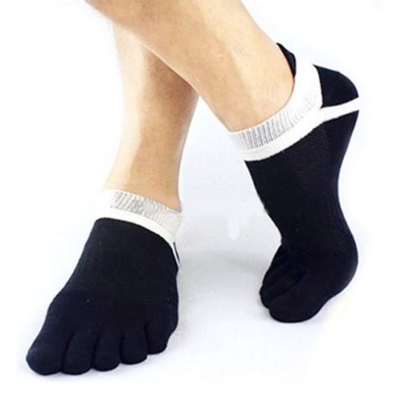 Newest Quaified Men Pure Cotton Toe Sock Breathable Five Finger Socks