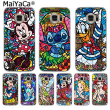 MaiYaCa fairy tale stained Alice Mickey Mouse phone case for SamsungS3 S4S5 S6 S6edge S6plus S7 S7edge S8 S8plus(China)