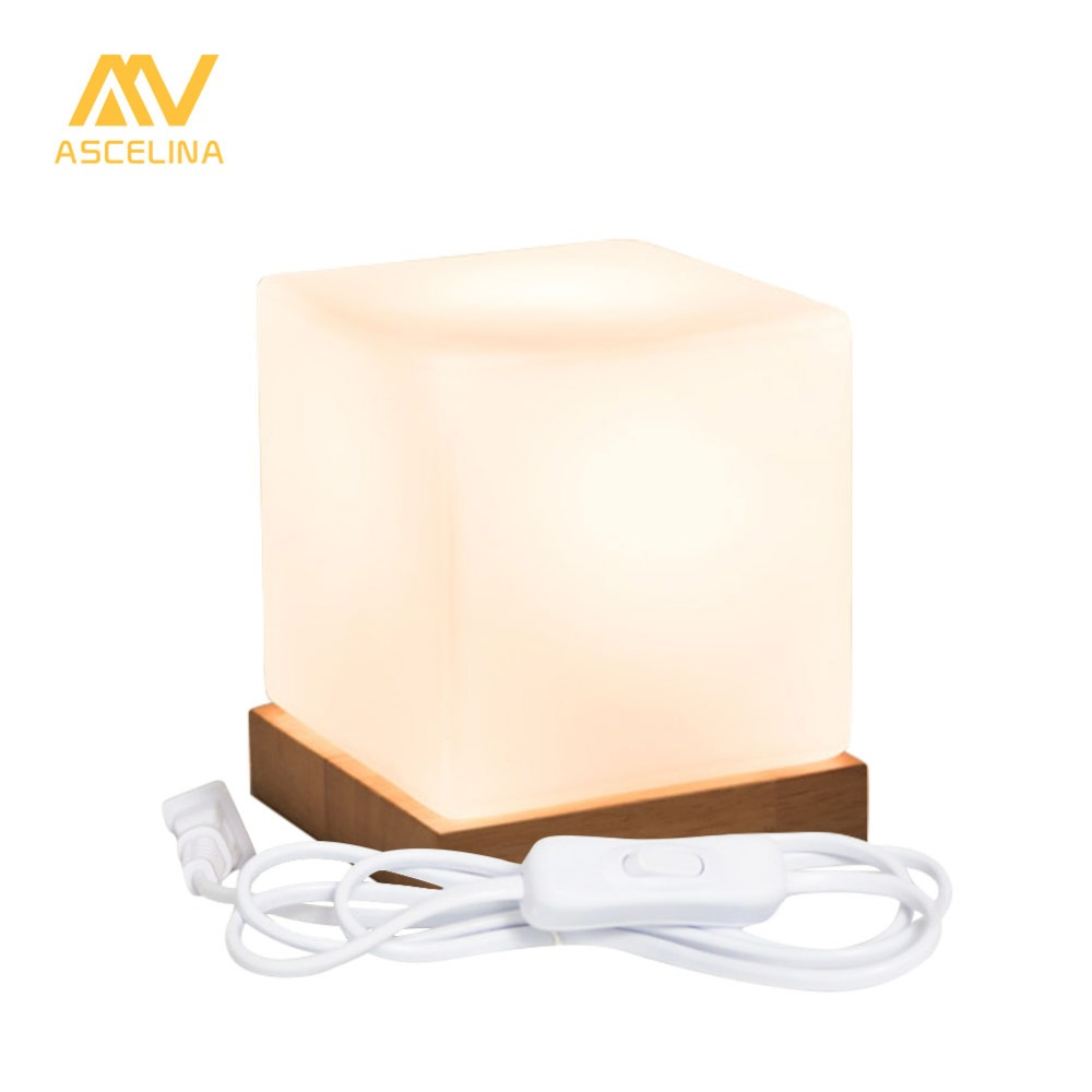 ascelina table lamp led desk lamp 1 8m wire with plug solid wooden modern creative bedside [ 1000 x 1000 Pixel ]