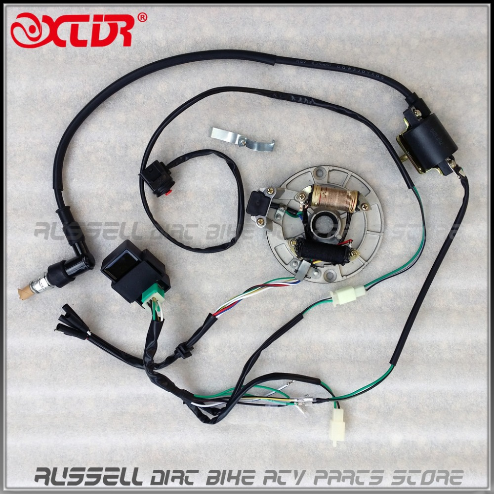 WIRE HARNESS CDI Coil MAGNETO STATOR Kill Switch Spark Plug 125cc PitDIRT BIKE?resize\\\\\\\=665%2C665\\\\\\\&ssl\\\\\\\=1 parallax 6730 converter wiring diagram wiring diagrams  at webbmarketing.co