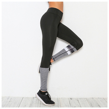 Women's New Running Tights Black Sport Leggings Ladies Mesh Print Yoga Pants Breathable Quick Dry Gym Workout Clothing
