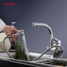 Фирменная новинка кухонный кран с выводом спрей хромированной отделкой Поворот на 360 градусов Носик