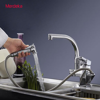 Brand New Kitchen Faucet With Pullout Spray Chromed Finish 360degree Swivel Spout
