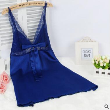 Sexy deep V-neck sleepwear HOT Summer women Silk slips ladies full lace slips M-L-XL-XXL