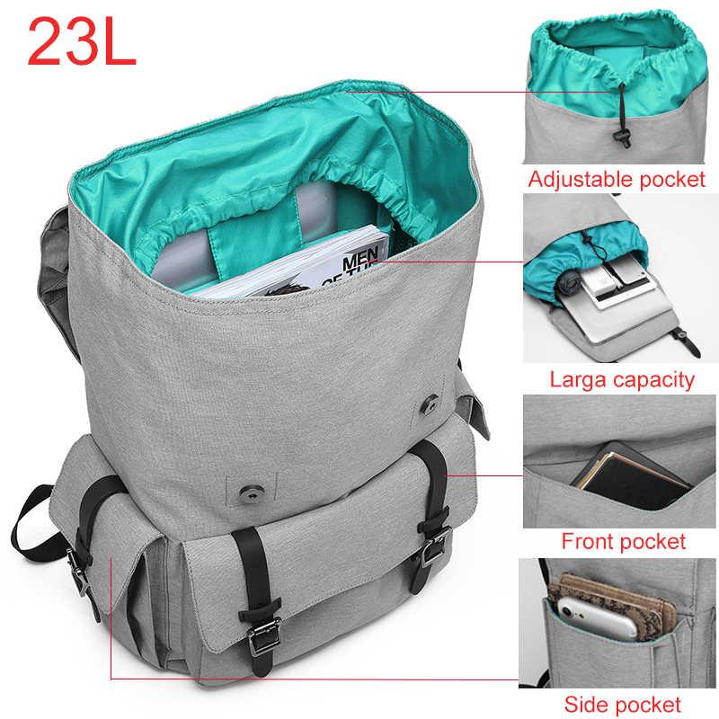 """KAKA Досуг Оксфорд мужской рюкзак для подростков большая, вместительная, черная непромокаемый рюкзак для 15,6 """"ноутбука Mochila женщин"""