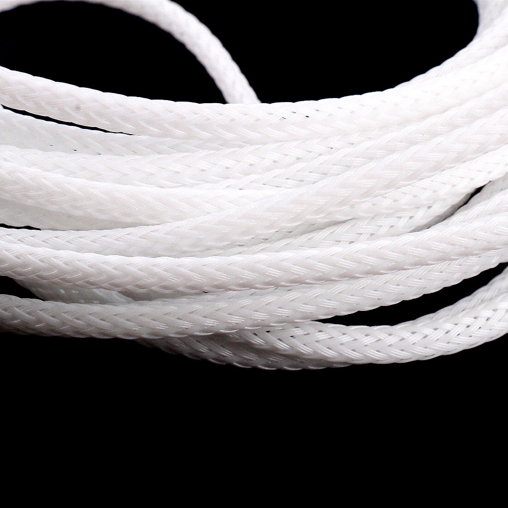 4mm White Cable protection Insulation Braided Sleeving Tight PET ...