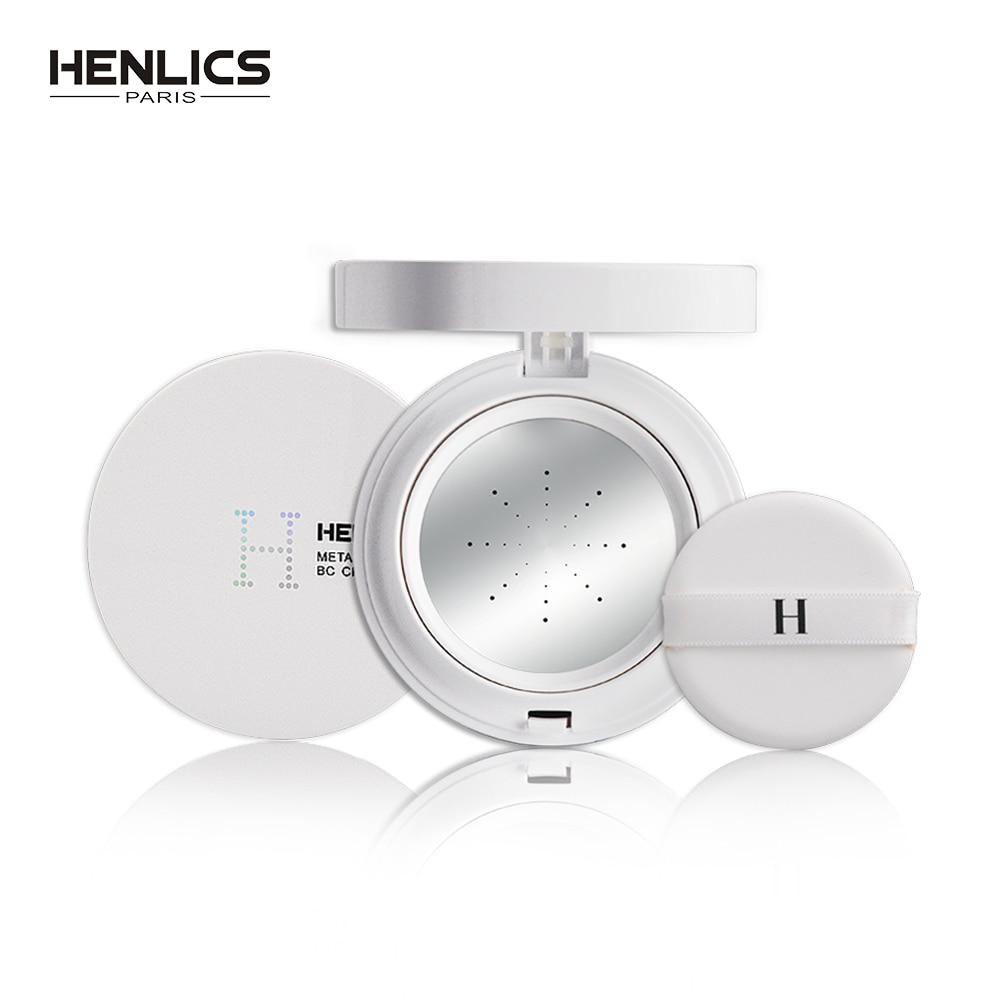 HENLICS SPF30+Multi-Effect Metal Air Cushion BB Cream Moisturizer Concealer NO Pigment Natural Whitening Cream Safe Healthy