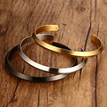 Boutique Luxury 316L Stainlesss Steel Fashion Women Bangles Jewelry Gold Plated Open Bangles For Birthday Gifts