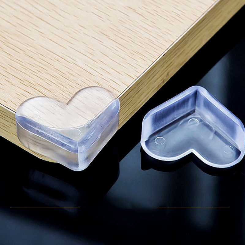 4Pcs Child Baby Silicone Safety Protector Table Corner Edge Protection Cover Children Anticollision Edge & Guards Cover For Kids