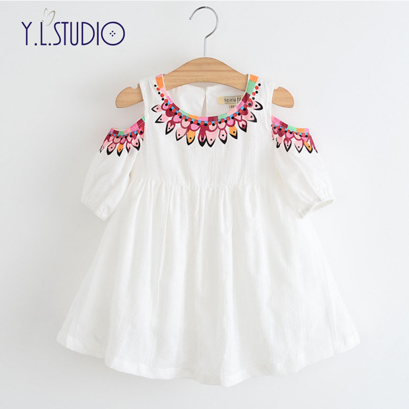 Girls Dress 2019 Summer Style Princess Dress Children Clothing Half Sleeves Casual Pattern Design Girls Clothes Bare Shoulder Dresses Aliexpress