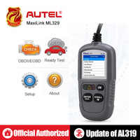 Autel MaxiLink ML329 Auto Code Reader OBD2 Scanner AutoVIN Car OBDII Diagnostic Tool with One-Click I/M Readiness Key pk AL319