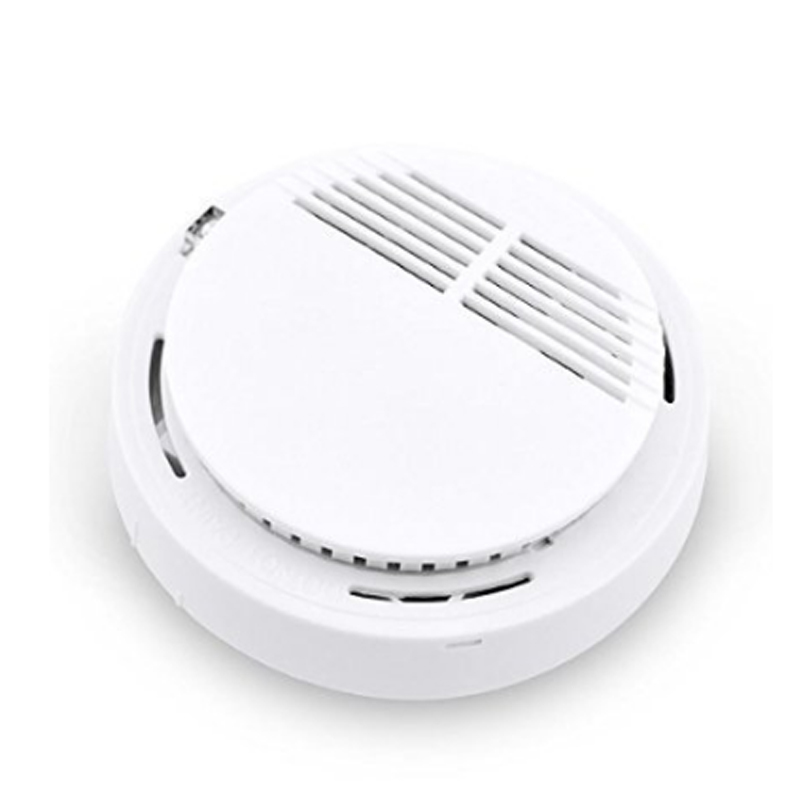 433MHZ Standalone Wireless Smoke Sensor Detector Burglar Alarm System for Home Security with Battery Built-in White Color forecum 433mhz wireless magnetic door window sensor alarm detector for rolling door and roller shutter home burglar alarm system