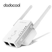 dodocool N300 Mini WiFi Repeater / Router / Access Point WiFi Range Extender with 2 External Antennas WPS Protection EU/US Plug