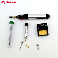 7 in 1 Gas Soldering Iron Gas Torch soldering Cordless Welding Heat Gun Torch Kit Repair Tools HT 1934K