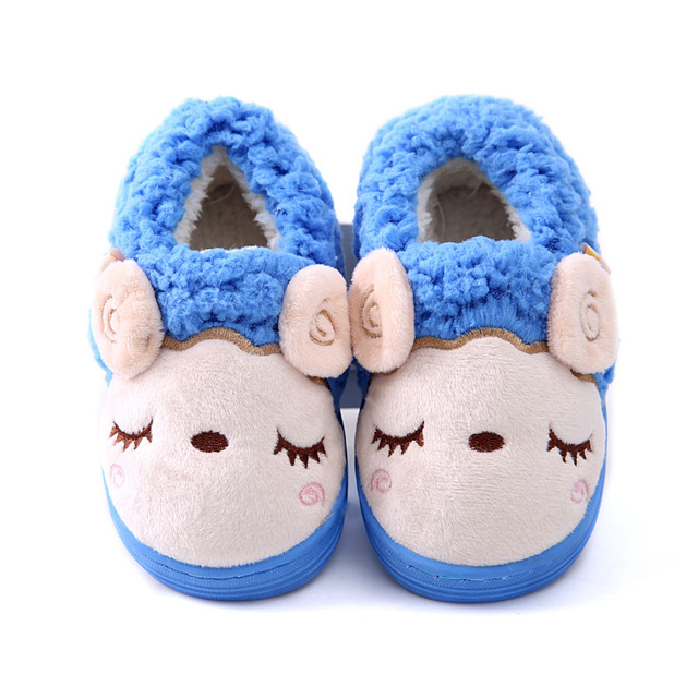 Winter Casual warm children shoes Thick Kids Home Shoes Child's Slippers Leather Boys Girls Shoes Genuine CHW014