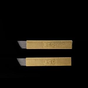 Image 2 - סיטונאי 500 pcs microblading מחט 12 פין pcd Lamina Tebori 12 קשיח להגמיש Microblading 12 חודים שטוח איפור הקבוע