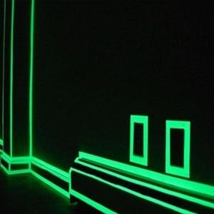 Image 3 - 1.5cm * 1m 빛나는 형광 밤 어두운 스티커에 자기 접착 광선 테이프 안전 보안 홈 장식 경고 테이프