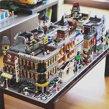 Creator architecture City Expert Street View 15004 15007 15019B 15033 15036 модель строительные блоки Fit Legoed рождественские подарки