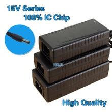 Adaptador de energia ac dc 15v, adaptador de comutação 15v 3a 4a 5a 6a 8a 10a 45w 60w 75w 90w 120w 150w para poe led carregador de áudio som