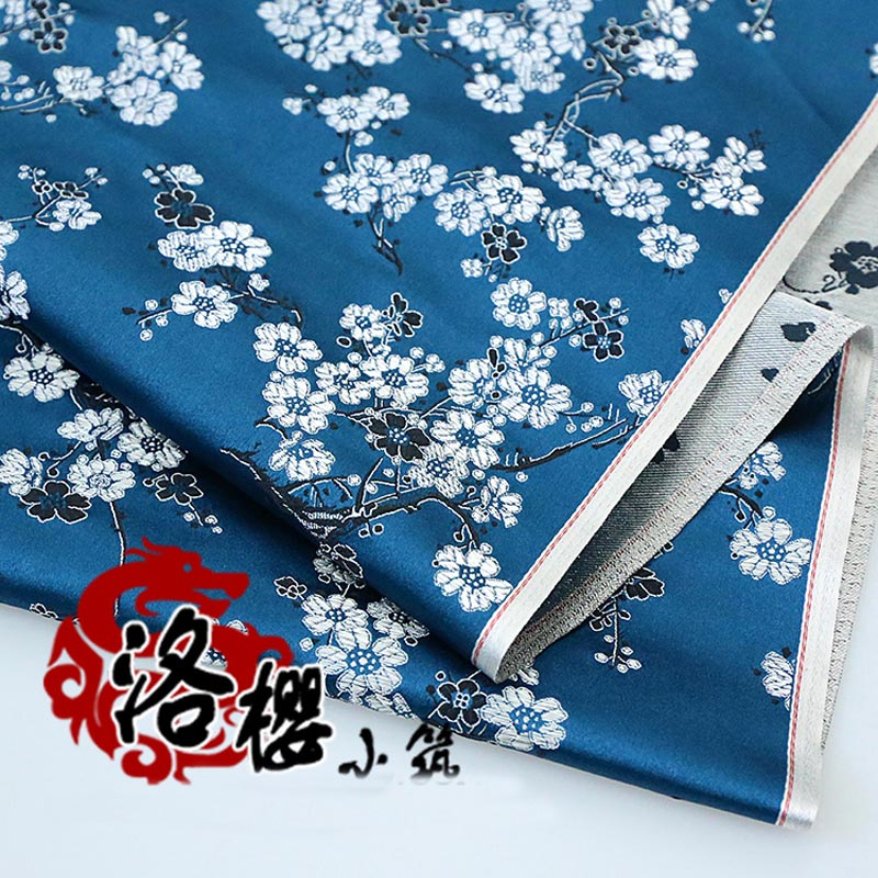 Brocade satin Plum blossom Cloth Costume Chinese clothing ...