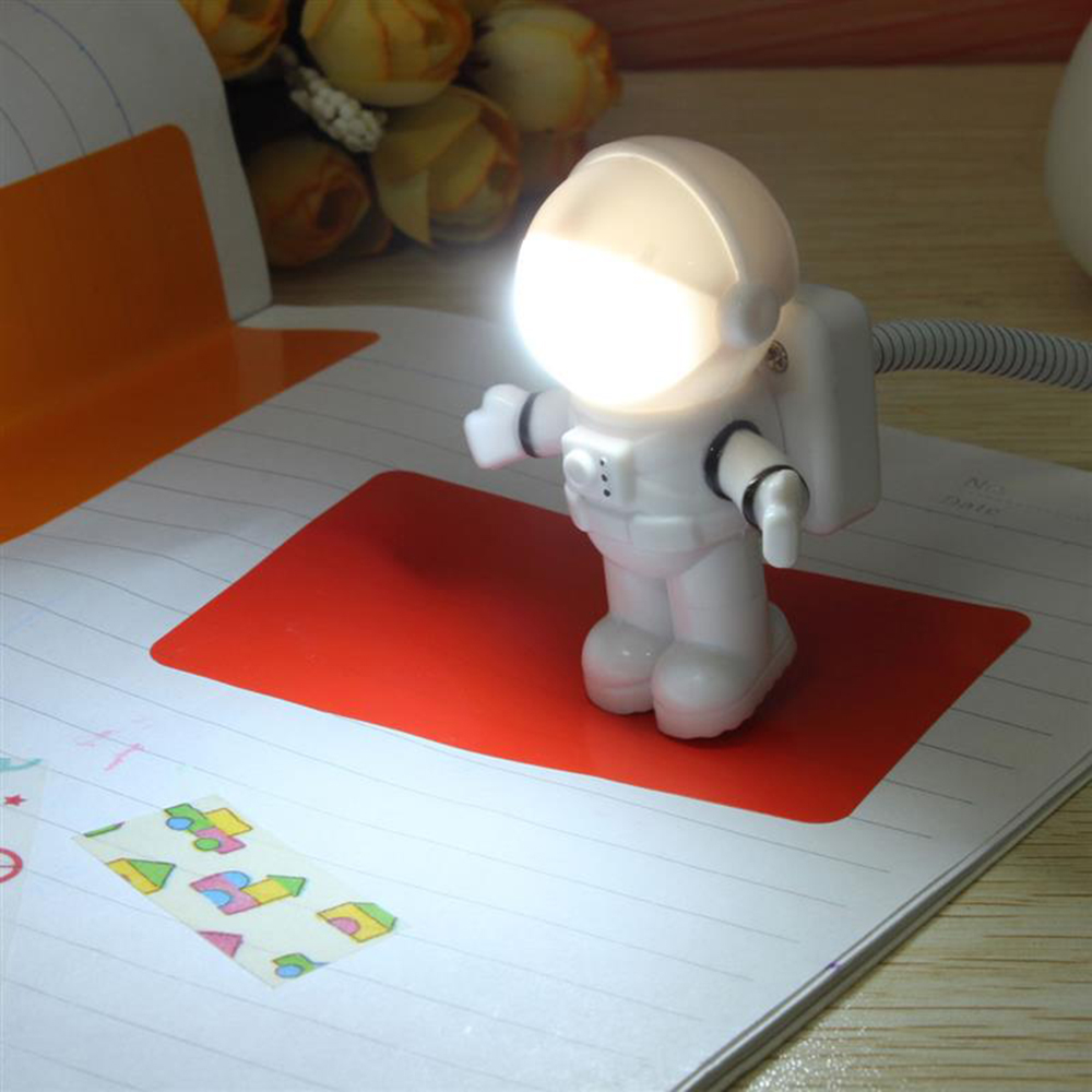 Mini Reading Lamp USB Tube For Computer Laptop PC Notebook Pure White Portable Spaceman Astronaut LED Night Light Adjustable mini portable 5w usb led light bulb 360 degree energy saving outdoor emergency lamp pc laptop computer power bank reading bulb