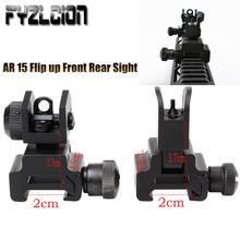 Tactical Accessories Military ar 15 Flip up Front Rear Sight Rapid Transition 20mm Rail Mount Hunting