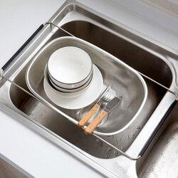 Küche liefert edelstahl rack ablauf schüssel rack lagerung korb waschbecken Lu4201