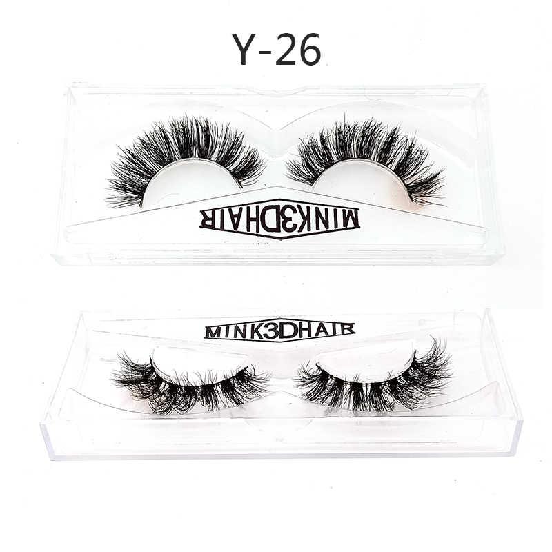6c2914438b0 NEW HBZGTLAD 3D Mink Hair False Eyelashes Wispy Cross Eye Lashes Fluffy  Handmade Extension Mink Eyelashes