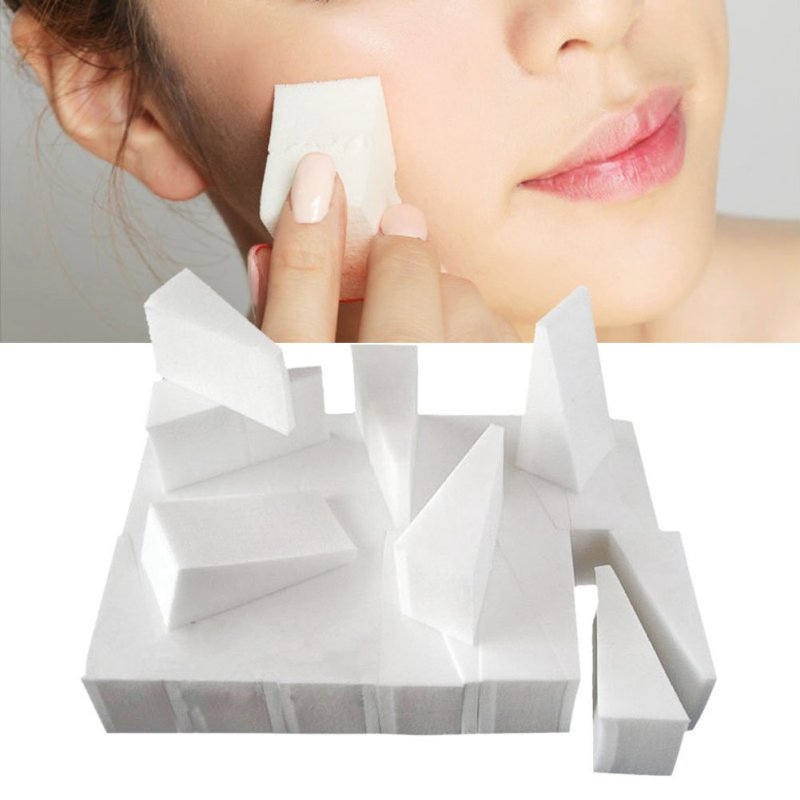 24pcs/pack makeup wedge sponge Women Beauty Triangle powder cosmetic wedges Puff Functionality Facial Foundation Cosmetic Puffs