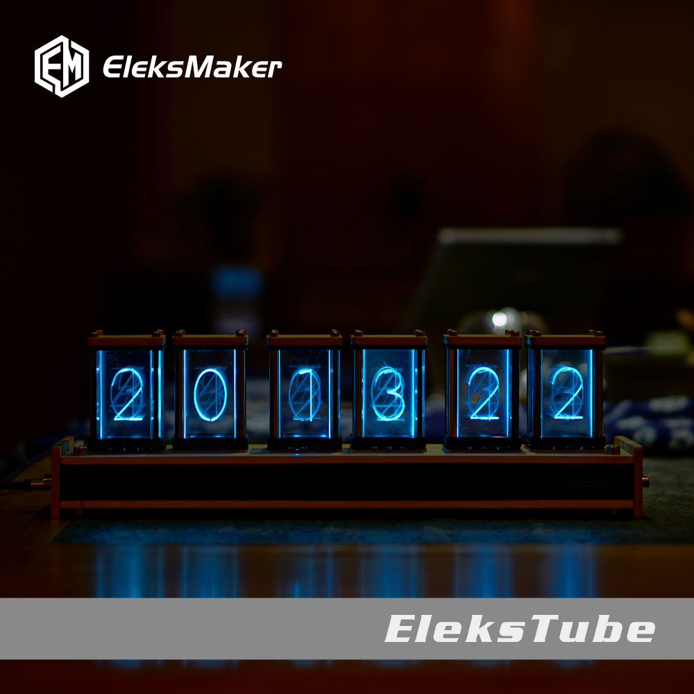 EleksMaker EleksTube Bamboo 6-Bit Kit Time Electronic LED Luminous Glow Nixie Tube Clock Time Flies Lapse