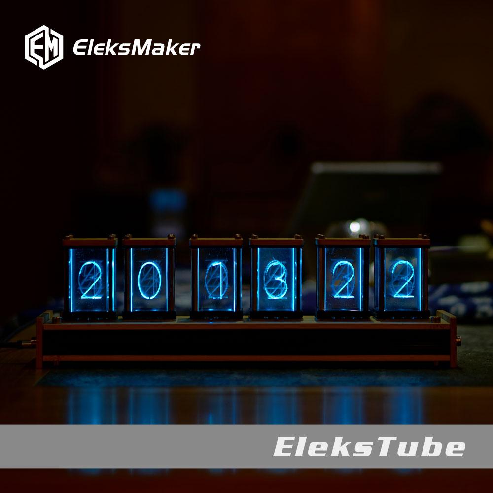 EleksMaker EleksTube Bamboo 6-Bit Kit Time Electronic LED Luminous Glow Nixie Tube Clock Time Flies Lapse