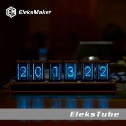 EleksMaker EleksTube Bambus 6-Bit Kit Zeit Elektronische LED Leucht Glow Nixie Uhr Zeit Fliegen Verfallen