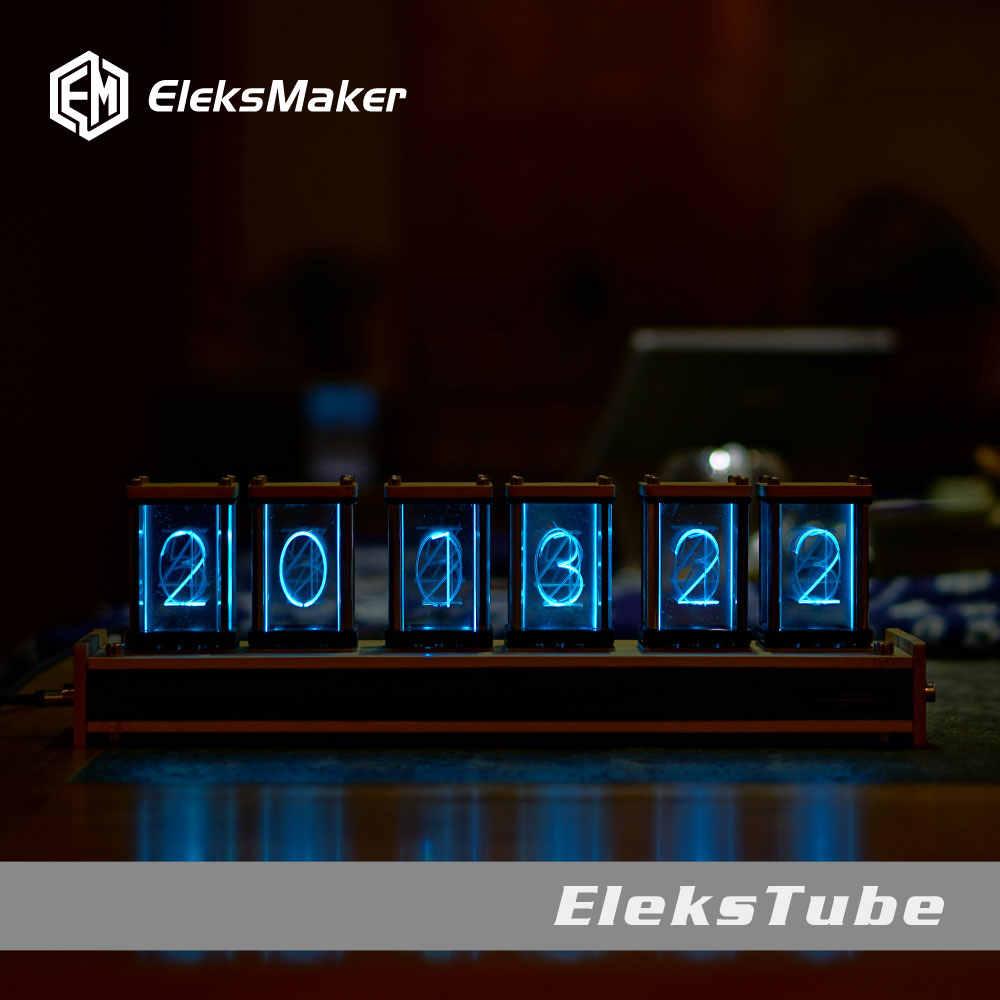 EleksTube Bambus 6-Bit Kit Zeit Elektronische LED Leucht Glow Nixie Uhr Zeit Fliegen Verfallen