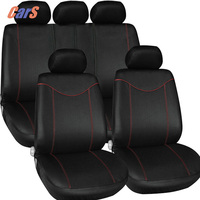 11Pcs Full Car Seat Covers Headrest Low Front Back Cover with 2MM Sponge for car seats Black Car Styling Accessaries