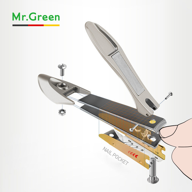 MR.GREEN high quality Medium Size Stainless Steel Nail Clipper Cuticle Scissors Nail Nail Cutter Manicure Trimmer Nail Art Tool 3
